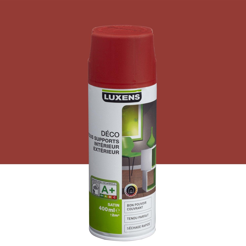 Peinture a rosol satin luxens rouge rouge n 3 0 4 l - Peinture leroy merlin luxens ...