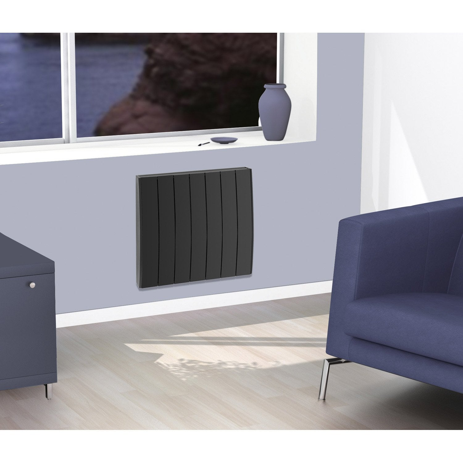radiateur lectrique inertie pierre concorde pyrite 2. Black Bedroom Furniture Sets. Home Design Ideas