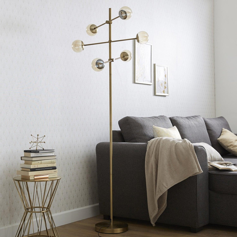 lampadaire led pronto 170 cm dor 2 w leroy merlin. Black Bedroom Furniture Sets. Home Design Ideas