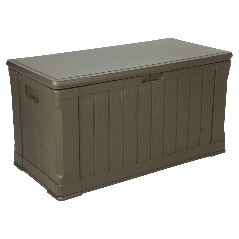 coffre de jardin r sine 60089 marron fonc x. Black Bedroom Furniture Sets. Home Design Ideas