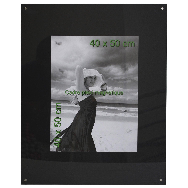 cadre magn tique 40 x 50 cm noir leroy merlin. Black Bedroom Furniture Sets. Home Design Ideas