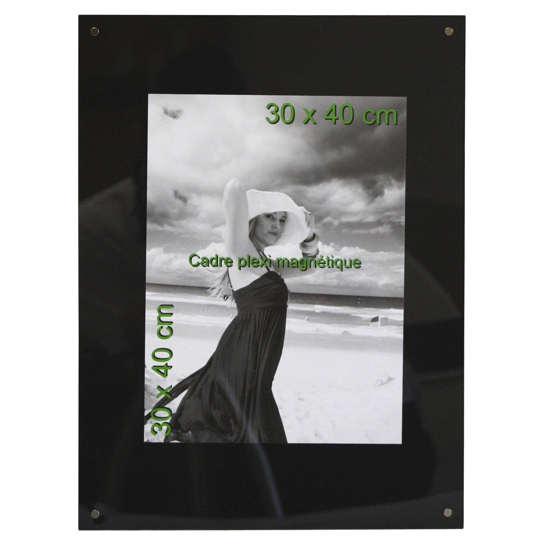 Cadre magn tique 30 x 40 cm noir leroy merlin - Cadre peinture leroy merlin ...