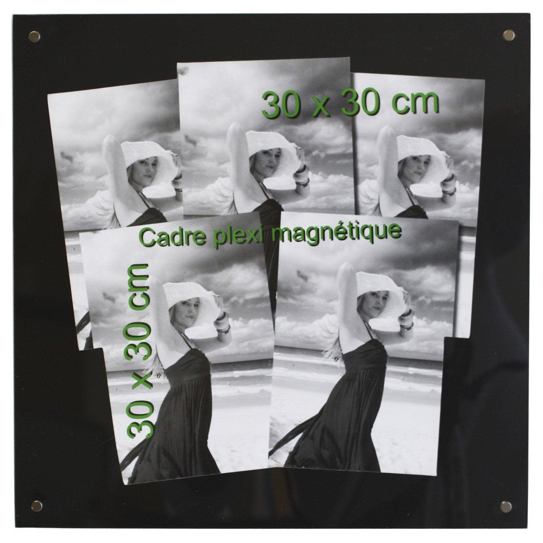 Cadre magn tique 30 x 30 cm noir leroy merlin - Leroy merlin cadre photo ...