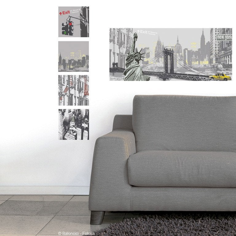Chambre style new york images - Stickers new york leroy merlin ...