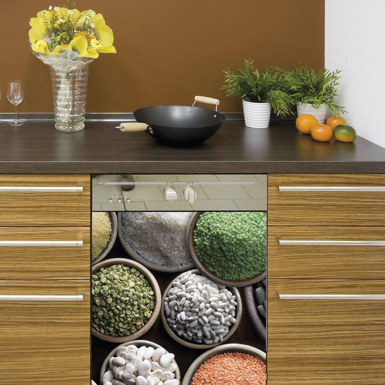 sticker lave vaisselle l gumes secs 59 cm x 70 cm leroy. Black Bedroom Furniture Sets. Home Design Ideas