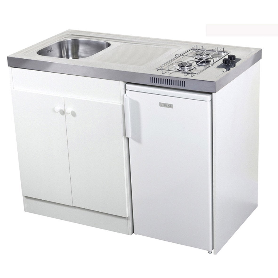 Kitchenette gaz blanc spring x x cm - Kitchenette leroy merlin ...