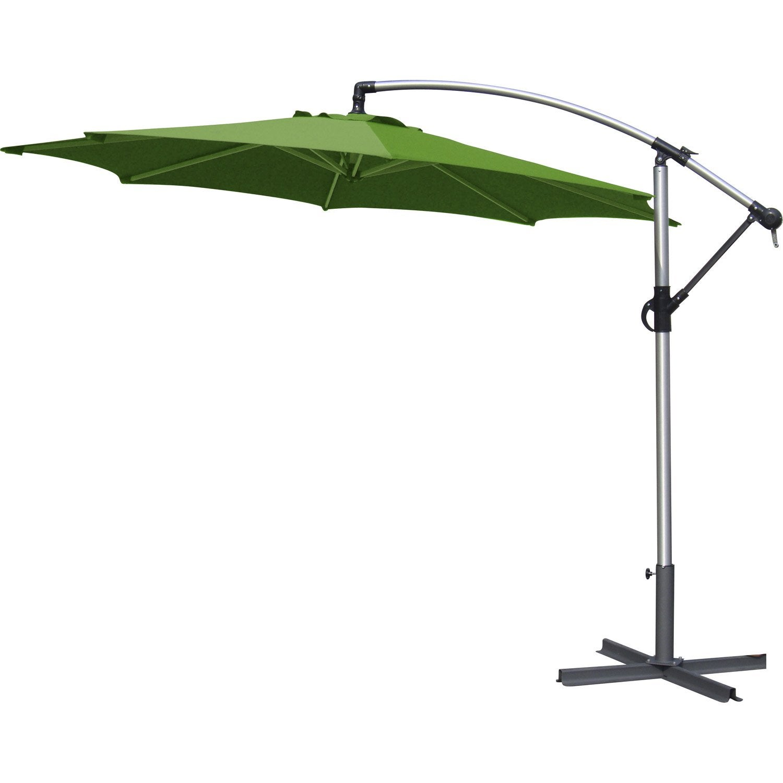 parasol d 233 port 233 florence vert rond l 300 x l 300 cm leroy merlin
