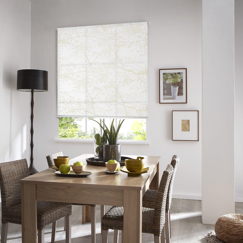 store enrouleur tamisant arbre blanc 50x190 cm leroy merlin. Black Bedroom Furniture Sets. Home Design Ideas