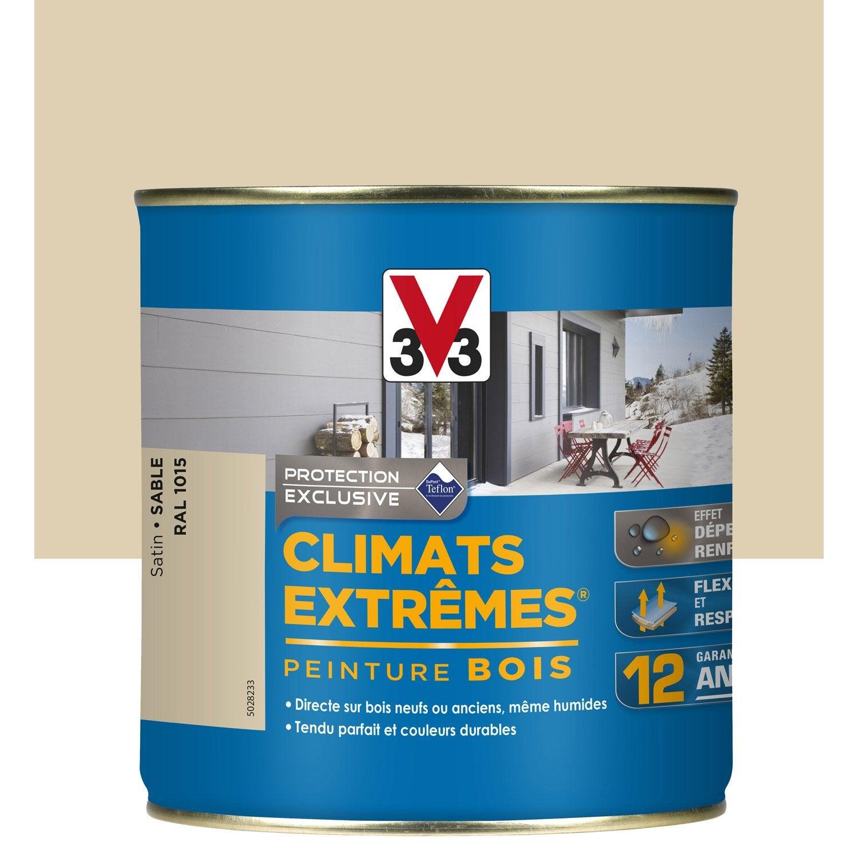 peinture bois ext rieur climats extr mes v33 sable 0 5 l. Black Bedroom Furniture Sets. Home Design Ideas