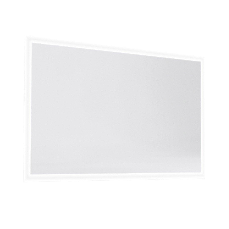 Miroir avec clairage int gr opale haut 70 cm larg 120 for Miroir salon leroy merlin