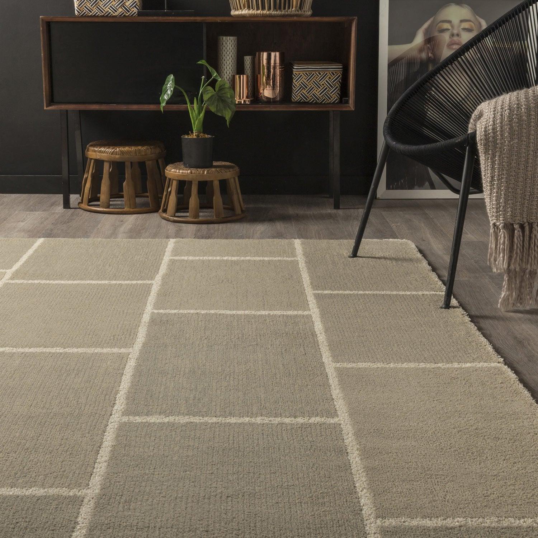 tapis taupe cosy design x cm leroy merlin. Black Bedroom Furniture Sets. Home Design Ideas
