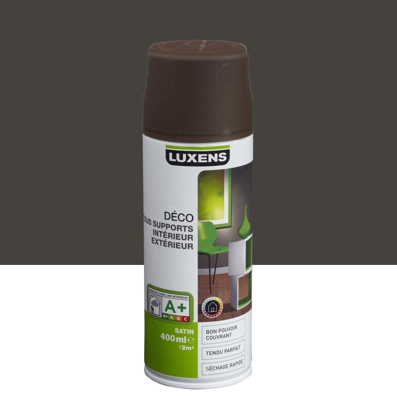 peinture a rosol satin luxens brun chocolat n 1 0 4 l leroy merlin. Black Bedroom Furniture Sets. Home Design Ideas