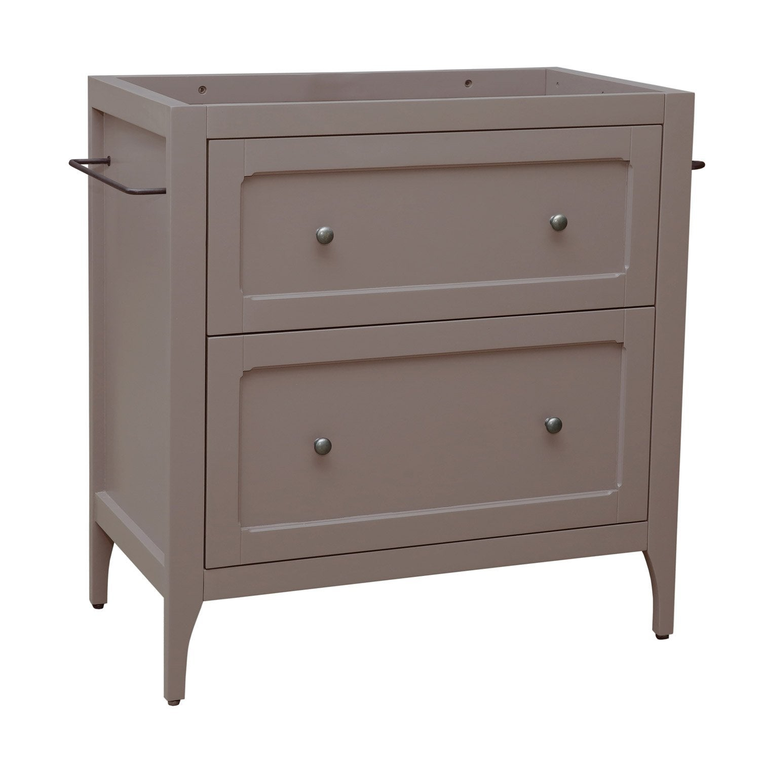 Meuble sous vasque x x cm taupe for Meuble bureau leroy merlin