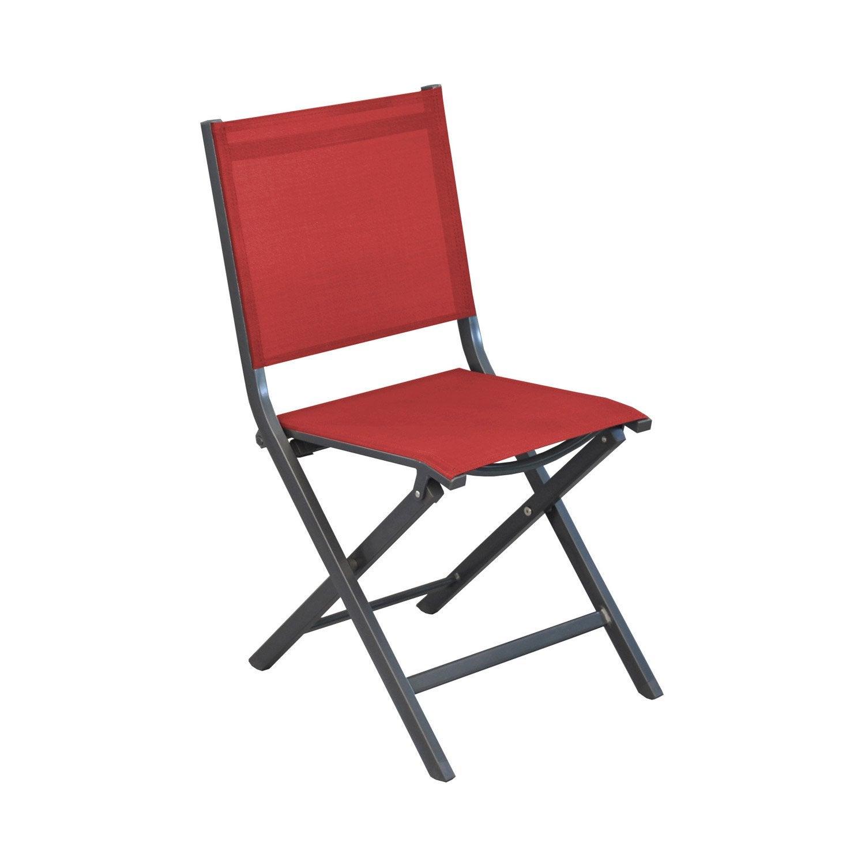 Chaise de jardin th ma rouge leroy merlin - Chaise plexi leroy merlin ...