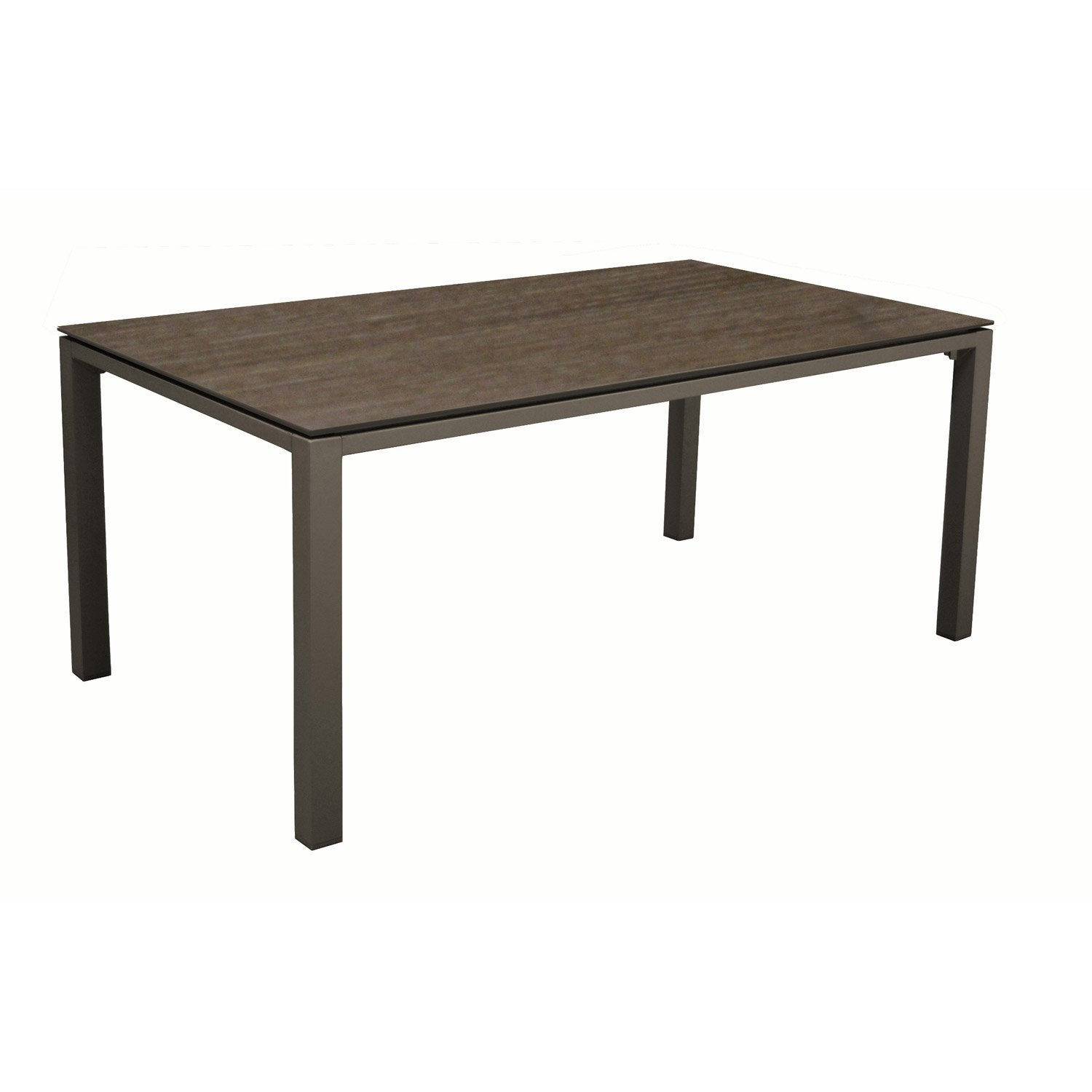 Table de jardin ston o rectangulaire caf cedar 8 for Table pliante murale 4 personnes