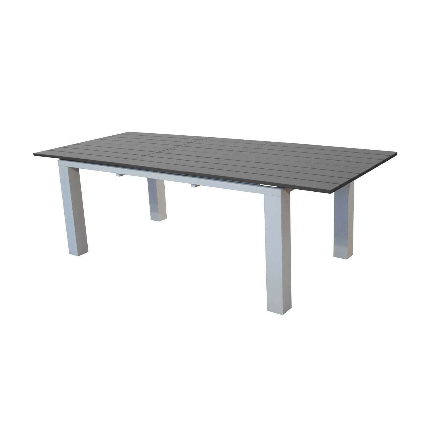 Table de jardin elena rectangulaire blanc grey 8 for Table jardin 8 personnes
