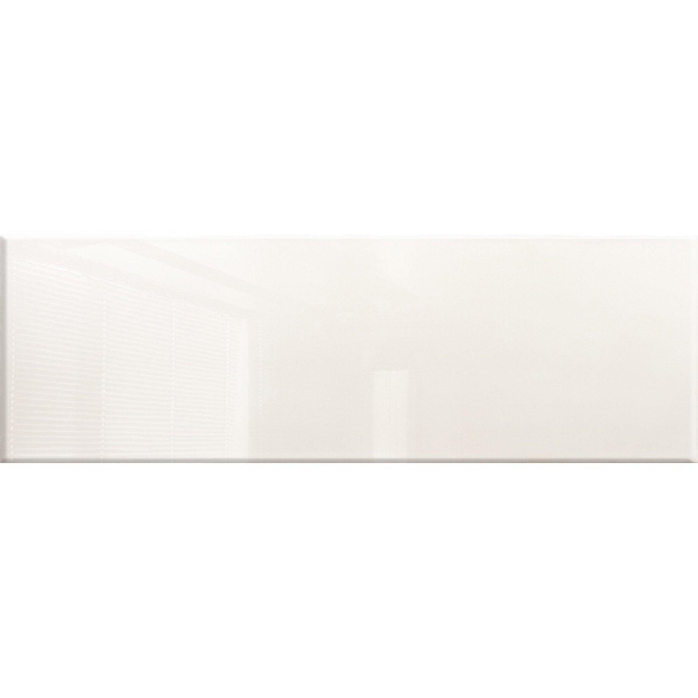 Fa ence mur blanc haussmann x cm leroy merlin for Leroy merlin carrelage mural blanc