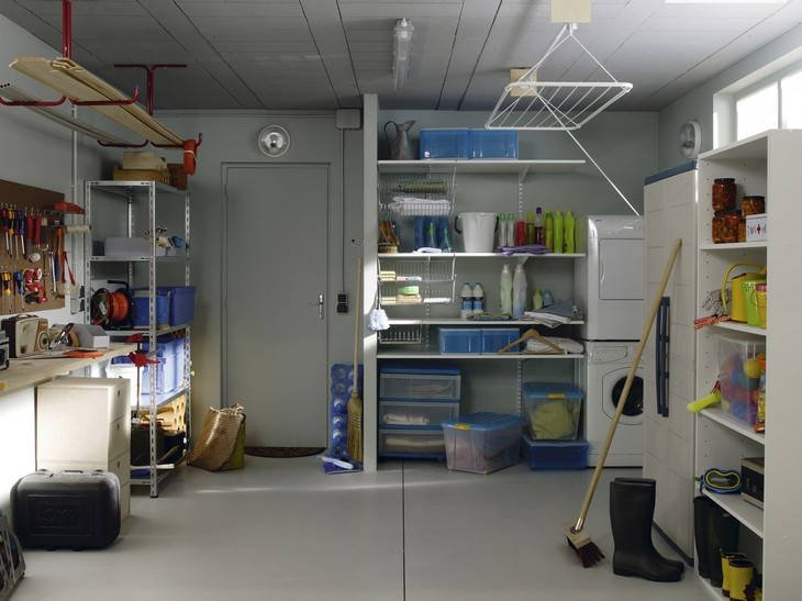 Etag re et rangement utilitaire leroy merlin - Rangement pour garage ikea ...