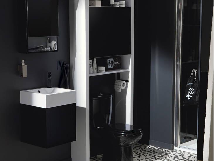 Rangement salle de bain leroy merlin for Meuble wc leroy merlin