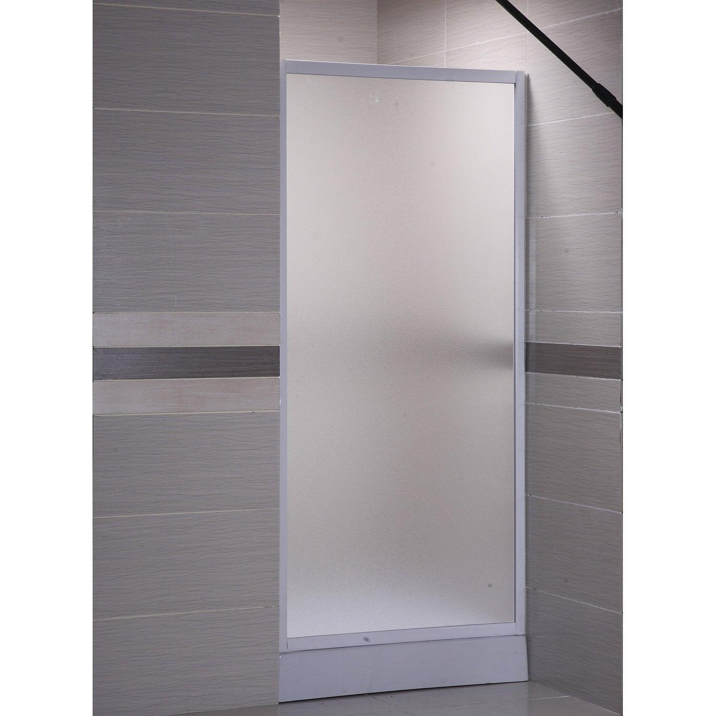 Paroi lat rale associ e une porte primo profil blanc for Porte 70 cm largeur
