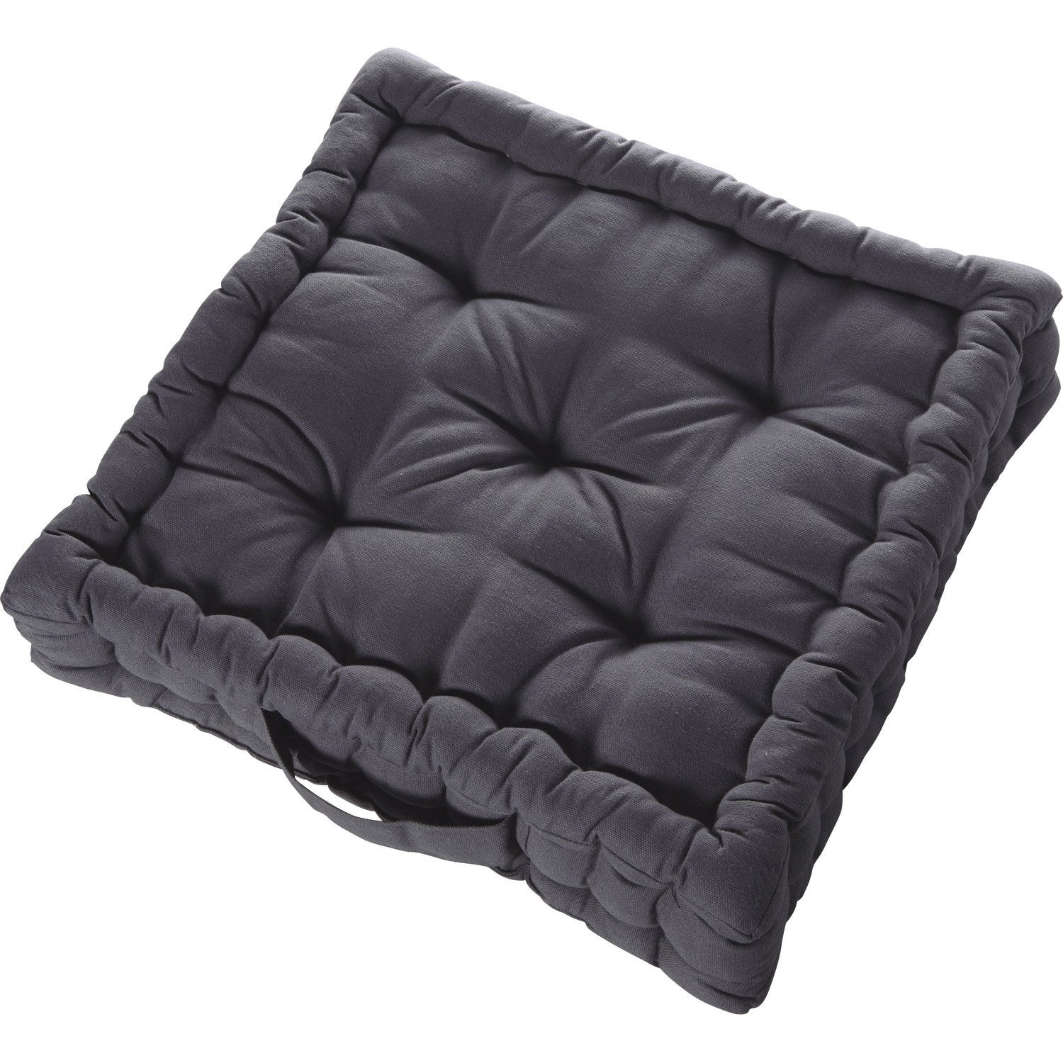 coussin de sol cl a inspire gris galet n 1 x x cm leroy merlin. Black Bedroom Furniture Sets. Home Design Ideas