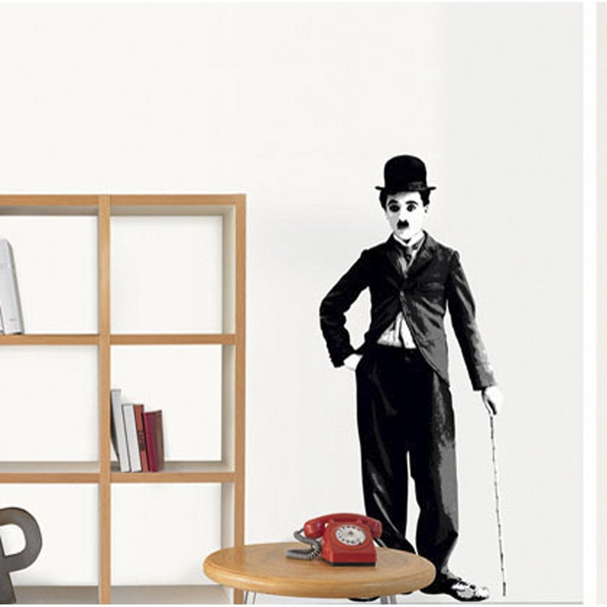 sticker charlie chaplin 49 cm x 69 cm leroy merlin. Black Bedroom Furniture Sets. Home Design Ideas