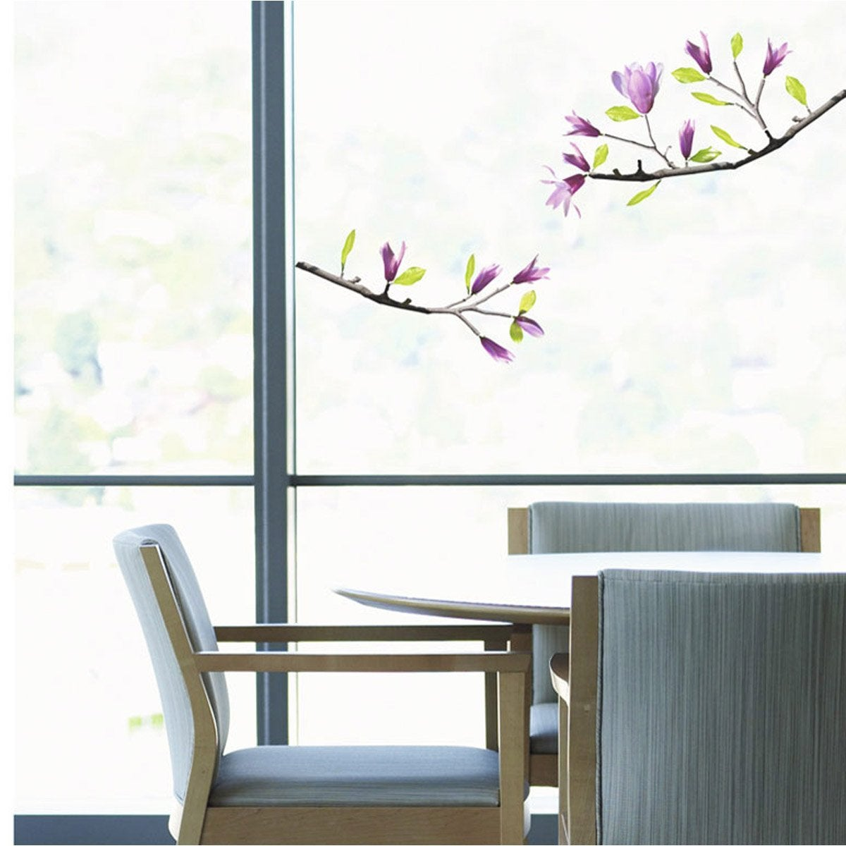 Sticker magnolia 23 5 x 67 cm leroy merlin for Stickers vitres leroy merlin