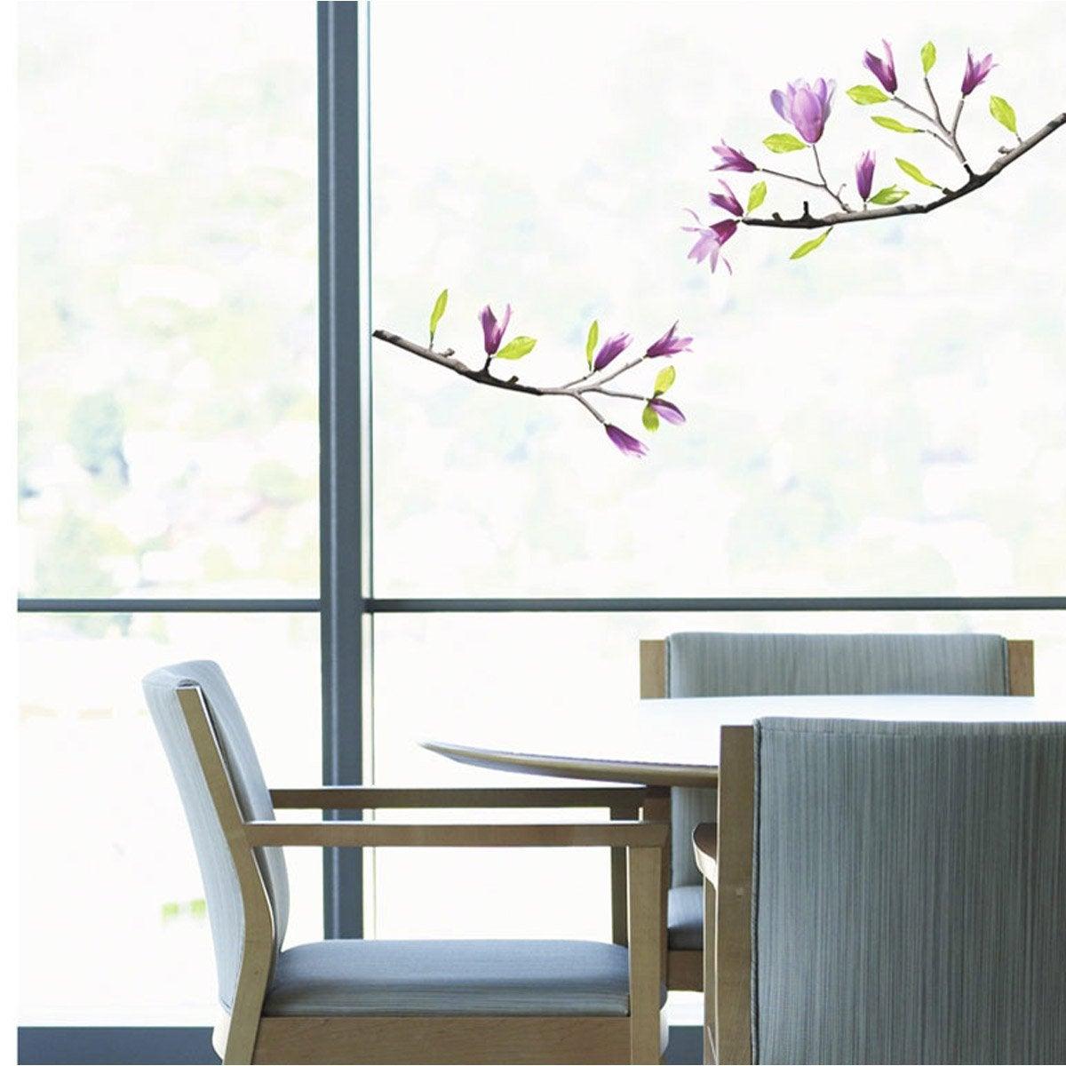 sticker magnolia 23 5 x 67 cm leroy merlin. Black Bedroom Furniture Sets. Home Design Ideas