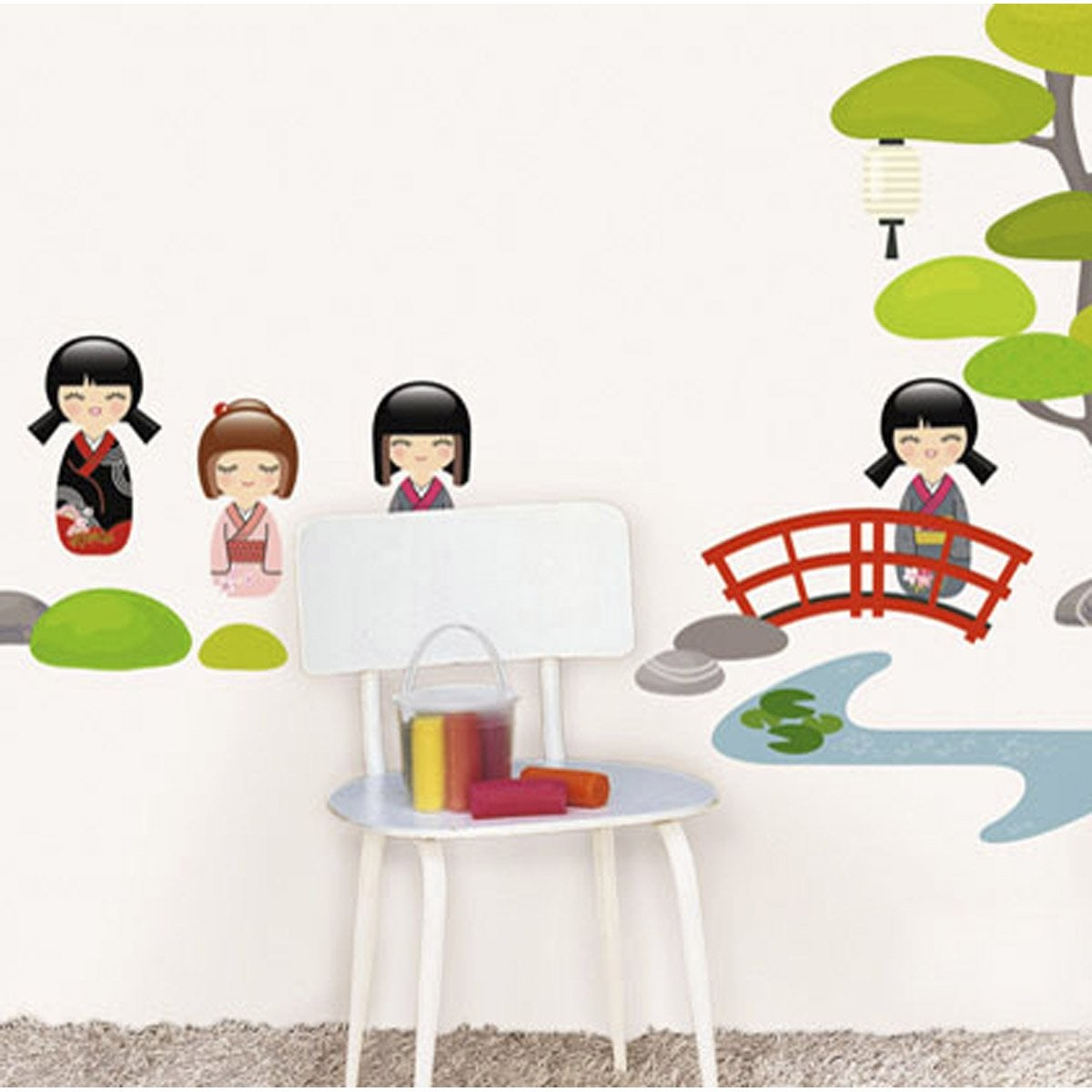 Sticker jardin japonais 49 x 69 cm leroy merlin for Jardin 69