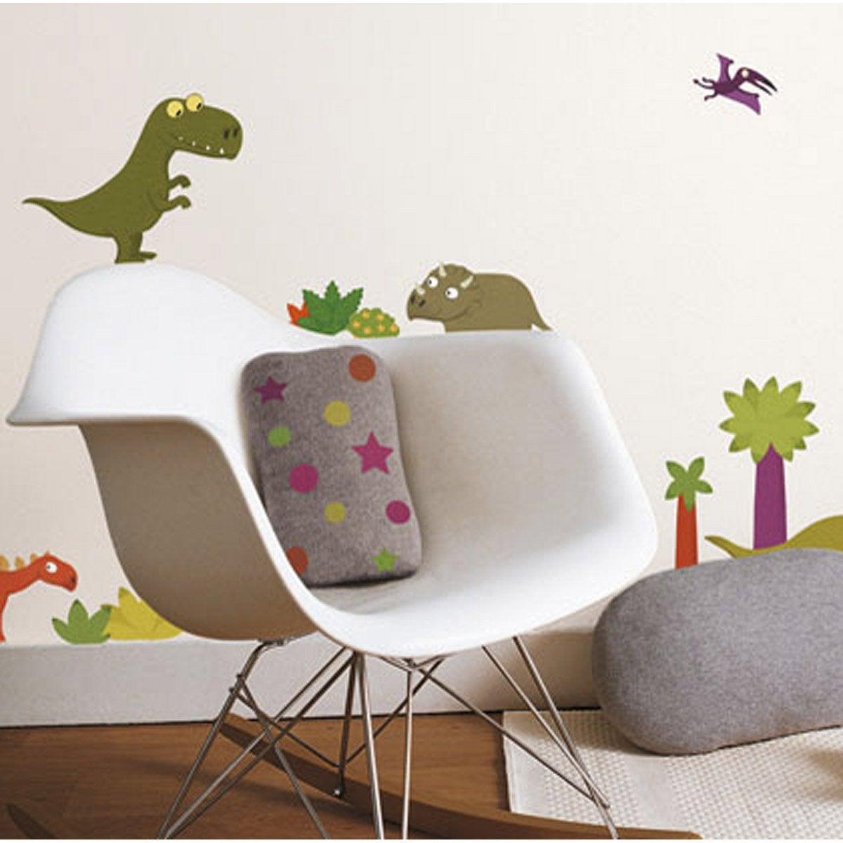 Sticker dinosaures 49 cm x 69 cm leroy merlin for Stickers murali leroy merlin