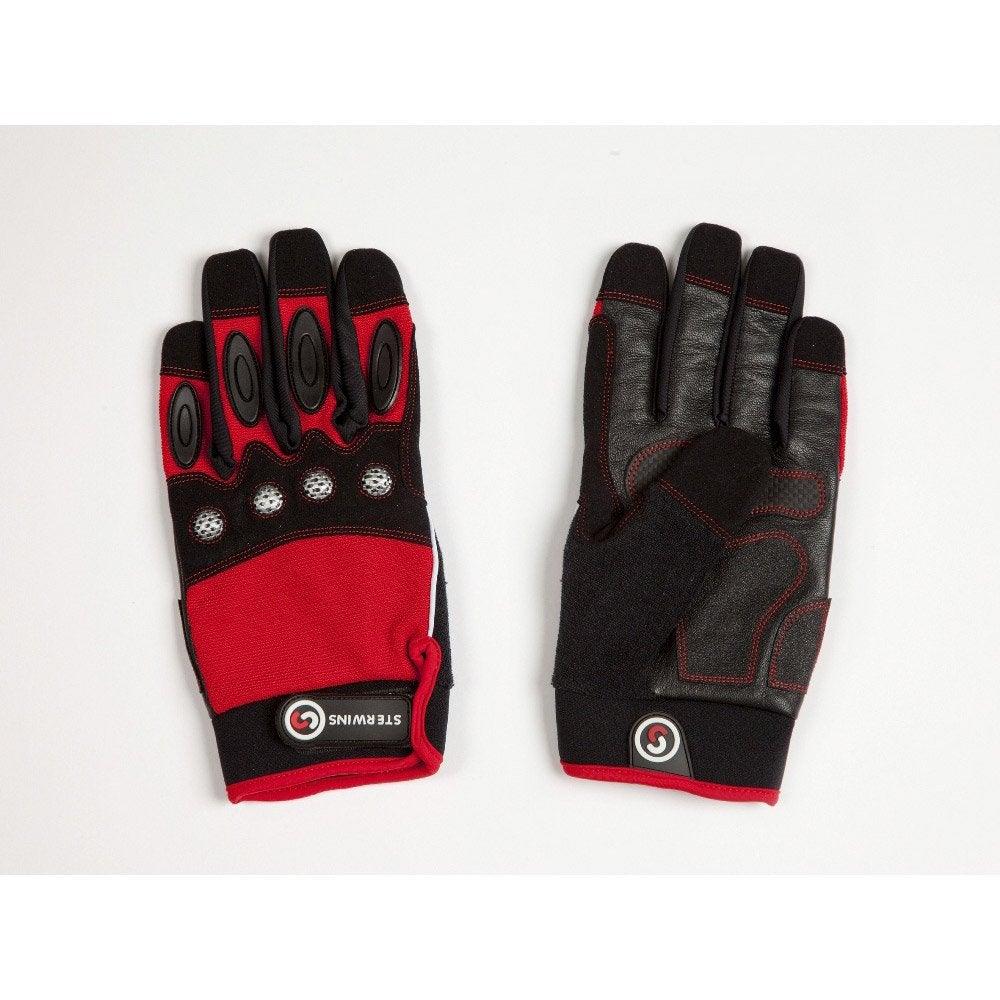 gants de manutention gros travaux sterwins rouge et noir taille 10 xl leroy merlin. Black Bedroom Furniture Sets. Home Design Ideas