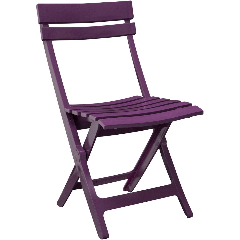 Chaise de jardin en r sine miami couleur purple grosfillex leroy merlin - Chaise jardin resine ...