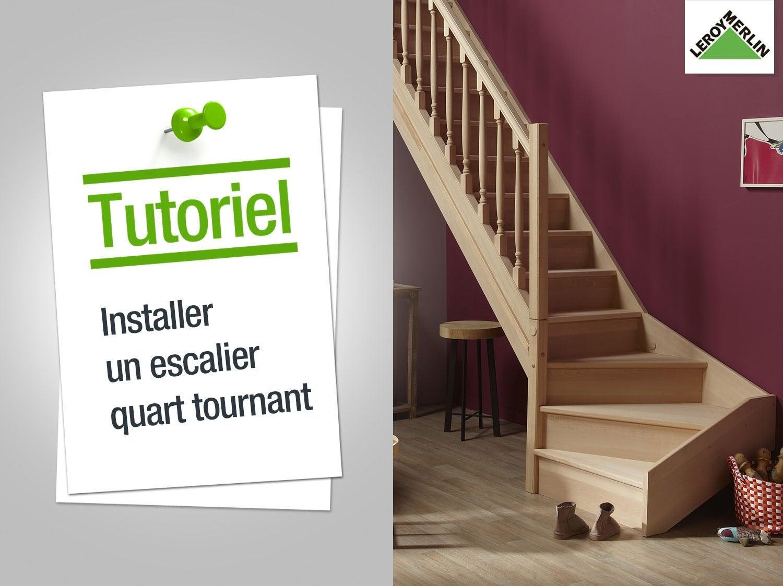Comment installer un escalier quart tournant ? | Leroy Merlin
