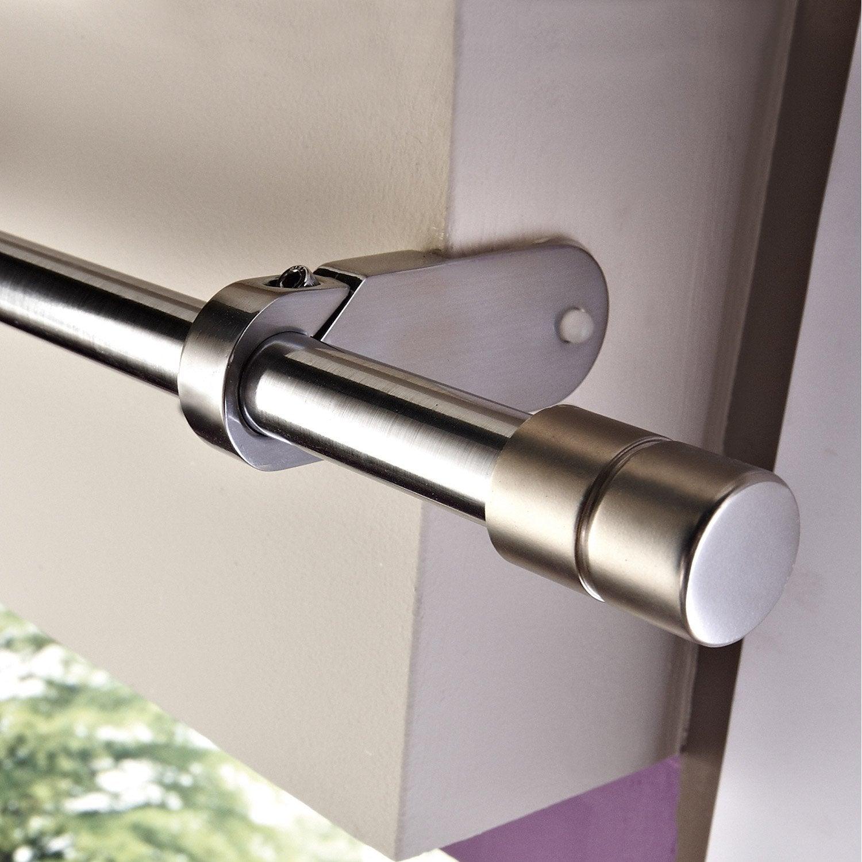 support sans per age ib pour caisson de volet roulant diam 25mm chrom leroy merlin. Black Bedroom Furniture Sets. Home Design Ideas