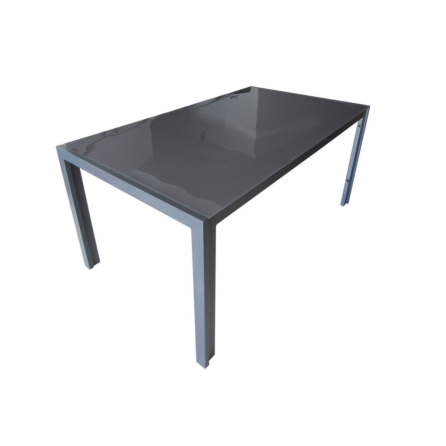 Table de jardin rectangulaire grey gris 6 personnes - Pied de table basse leroy merlin ...
