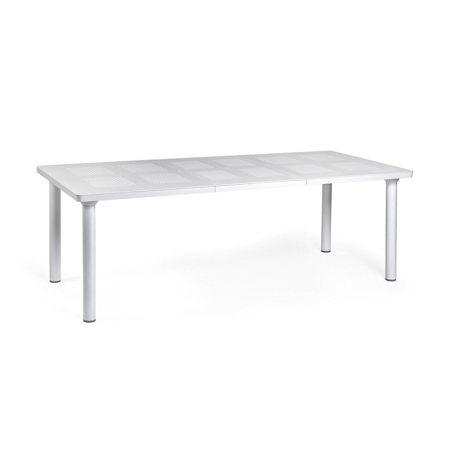 Table de jardin libeccio rectangulaire blanc 8 personnes leroy merlin - Leroy merlin table jardin ...