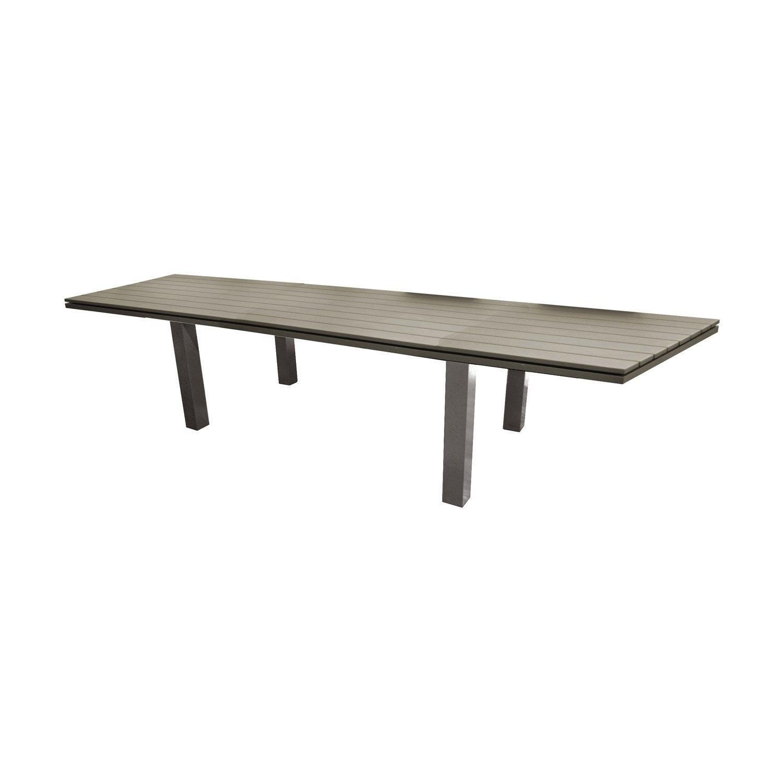 Table de jardin elena rectangulaire taupe 6 8 personnes for Table exterieur 6 personnes