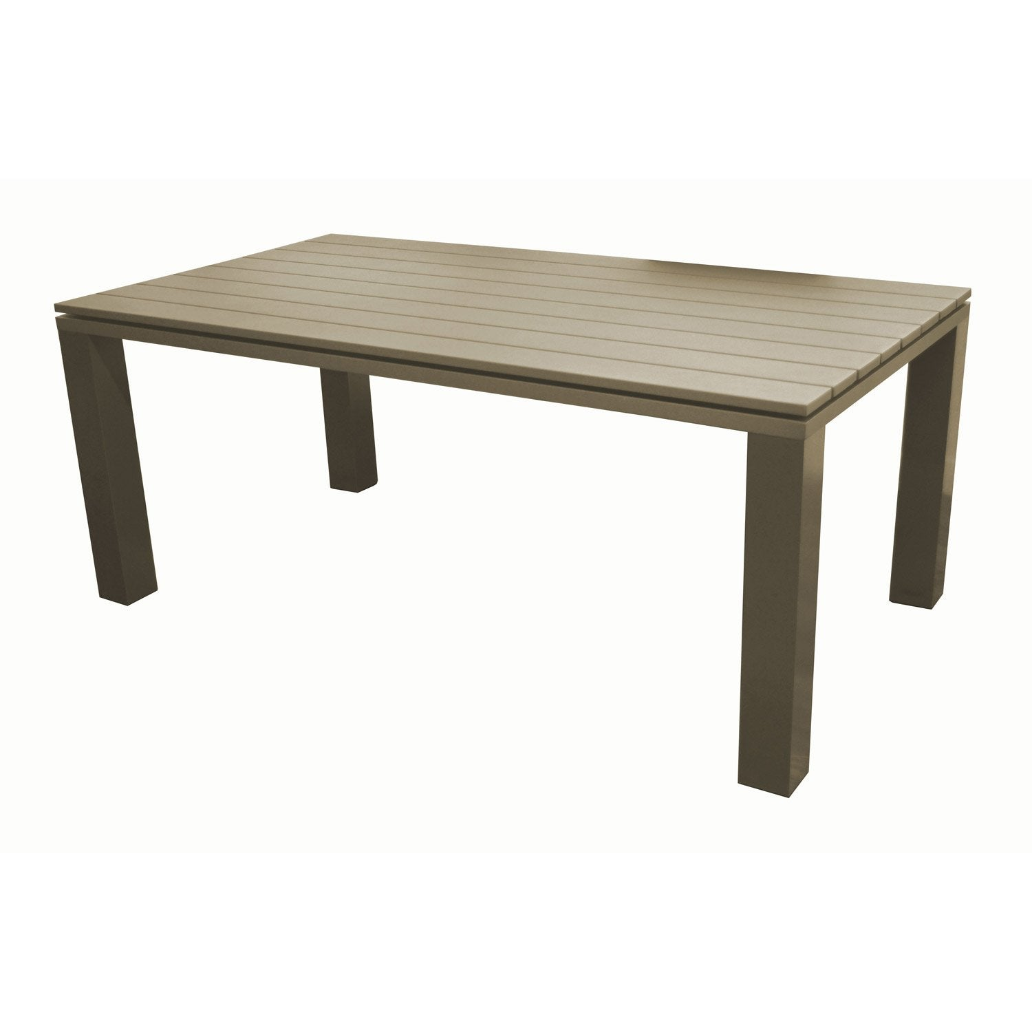 Table de jardin elena rectangulaire taupe 8 personnes for Table jardin 8 personnes