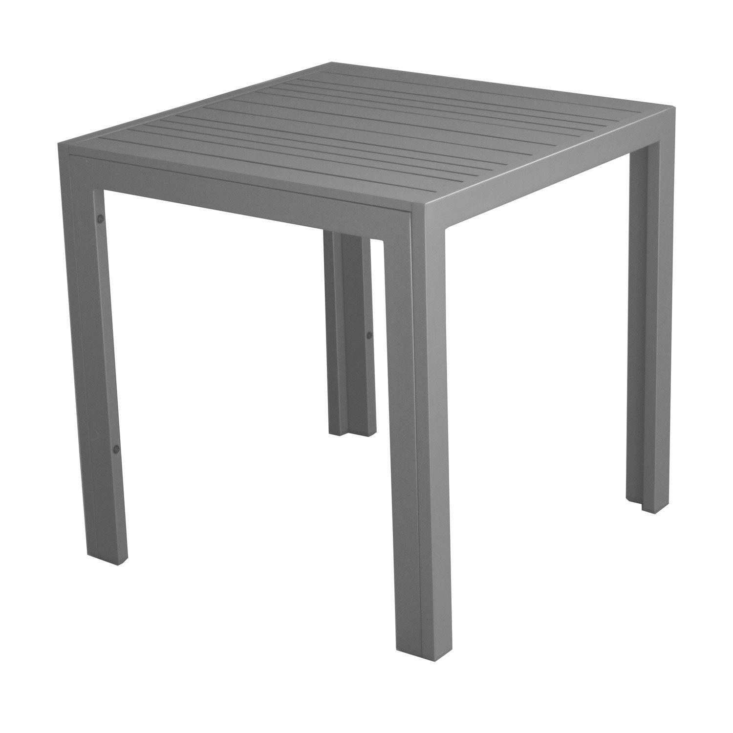 Table basse carr e gris look bois 2 personnes leroy merlin - Table basse carree bois gris ...