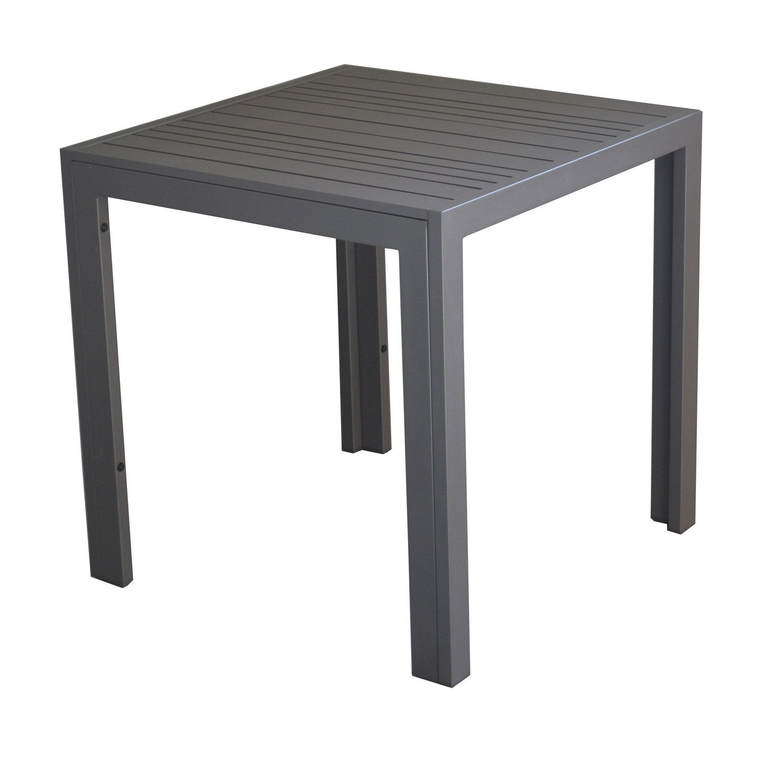 Table basse carr e gris 2 personnes leroy merlin for Table exterieur 2 personnes