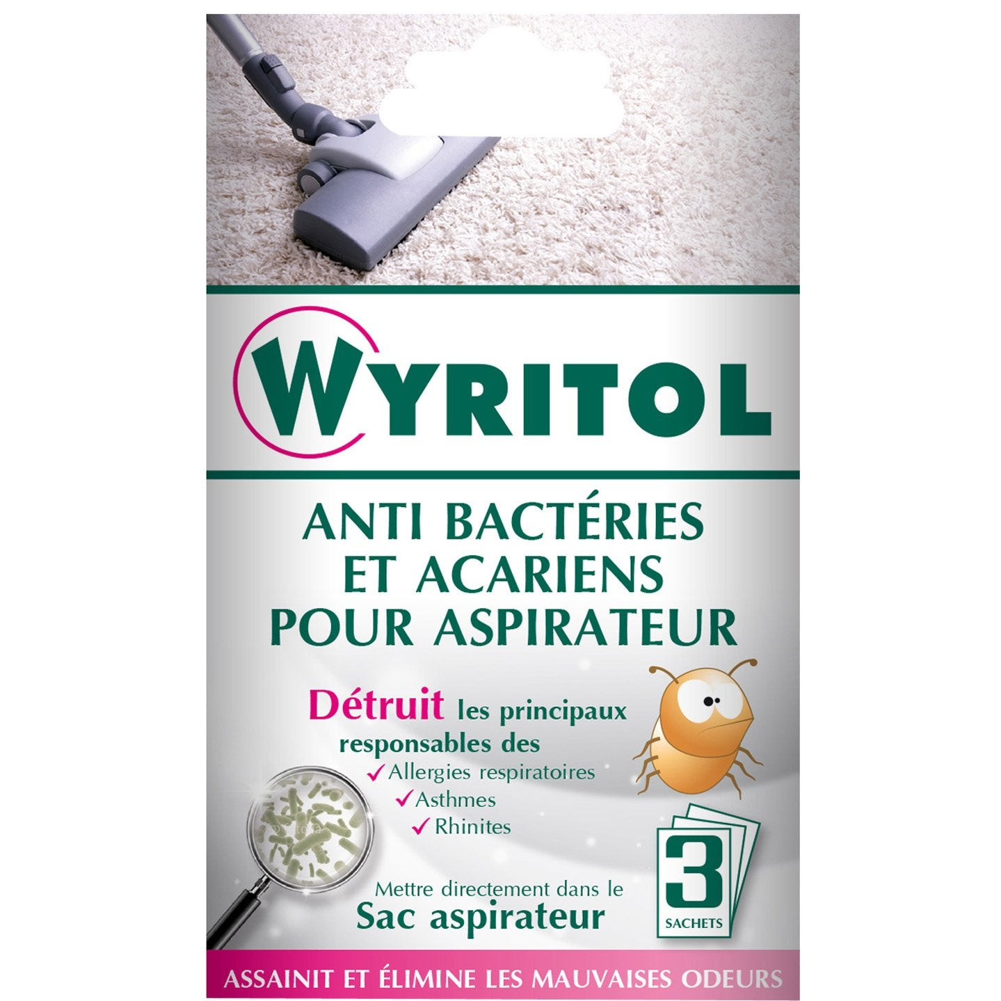 d sinfectant anti bact rien aspirateur wyritol 3 x 10 g leroy merlin. Black Bedroom Furniture Sets. Home Design Ideas