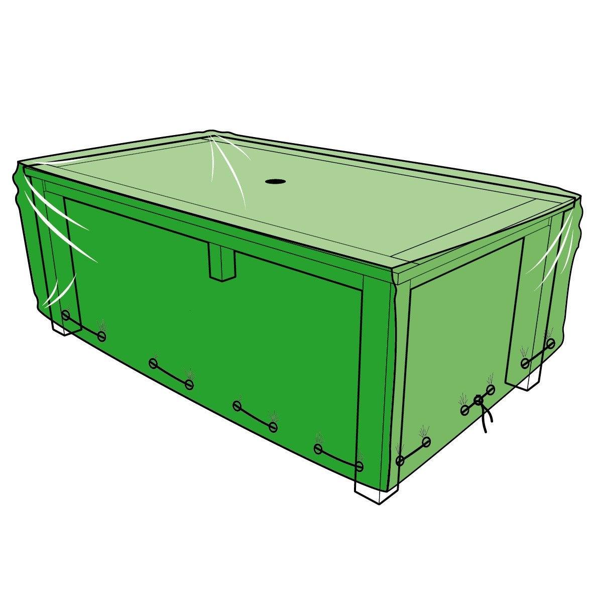 housse de protection pour table x x cm leroy merlin. Black Bedroom Furniture Sets. Home Design Ideas