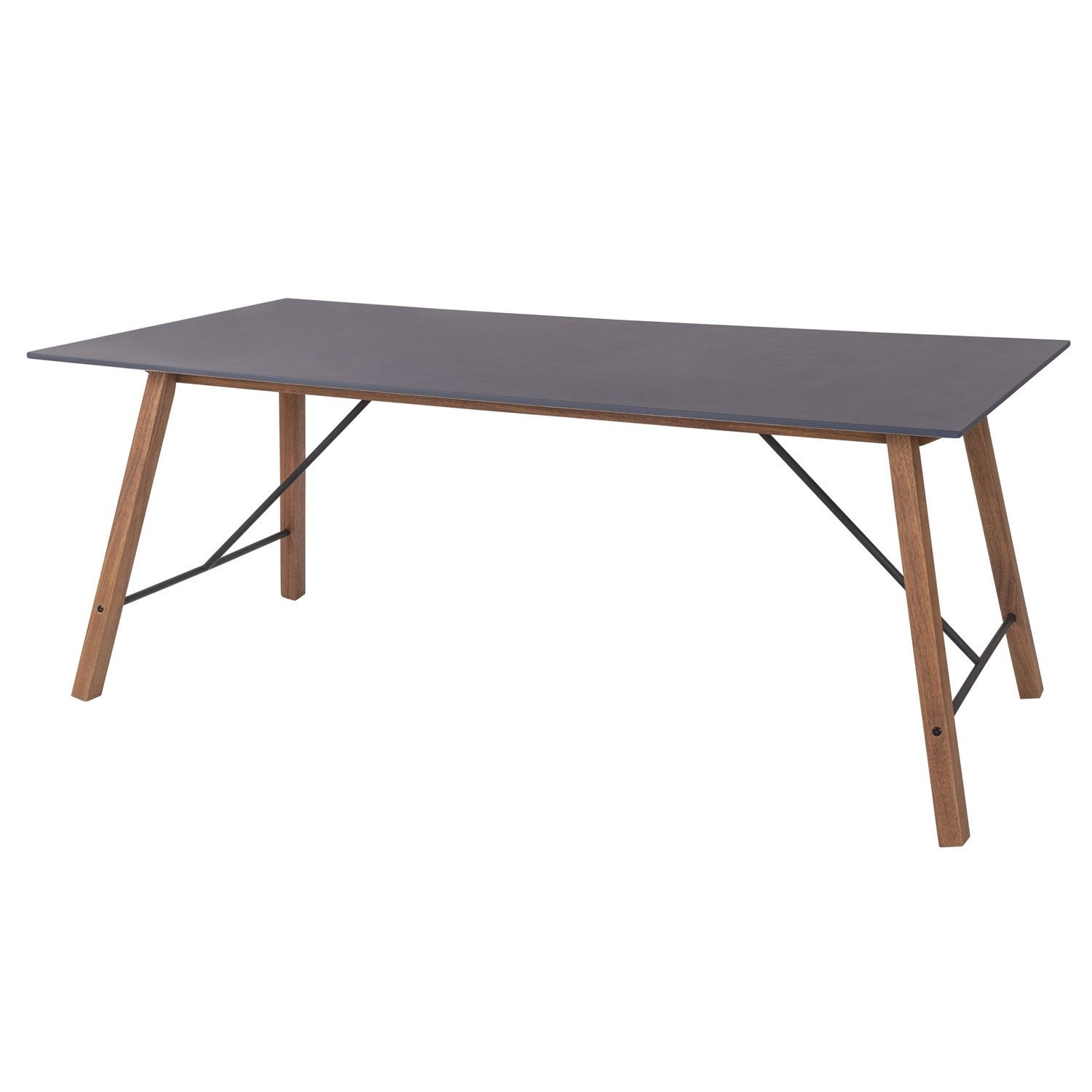 table de jardin archi rectangulaire gris 6 personnes | leroy merlin