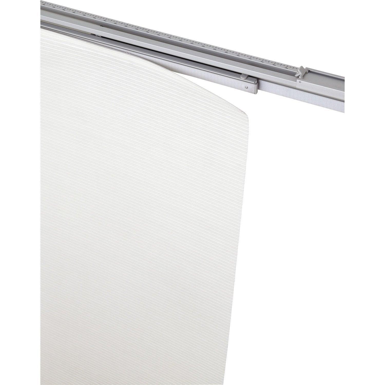 rail extensible pour panneau japonais aluminium blanc l. Black Bedroom Furniture Sets. Home Design Ideas