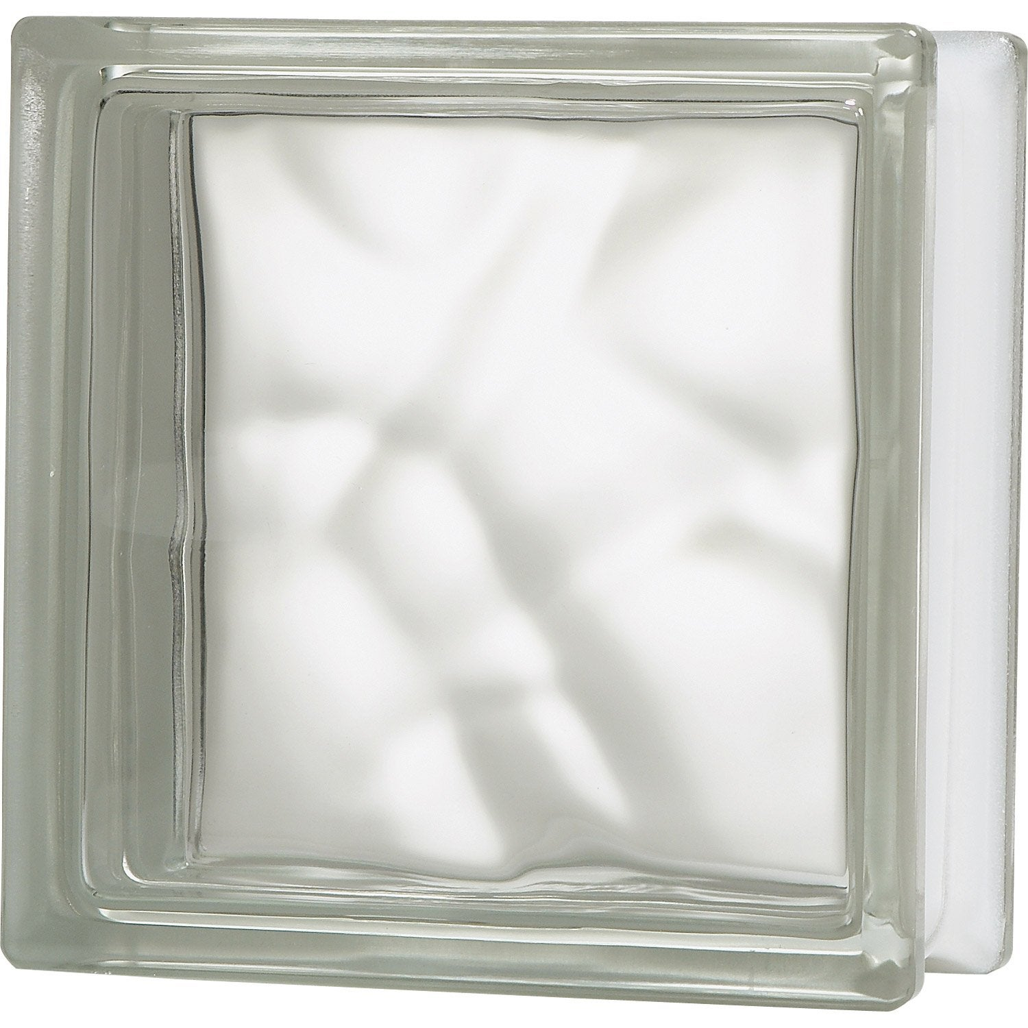 Brique de verre transparent ondul brillant leroy merlin for Monter un mur en brique de verre salle de bain