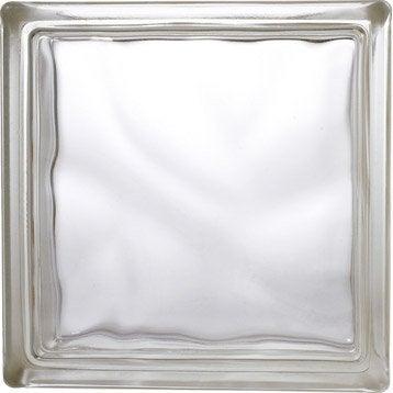 brique de verre standard ondul e brillante transparente. Black Bedroom Furniture Sets. Home Design Ideas