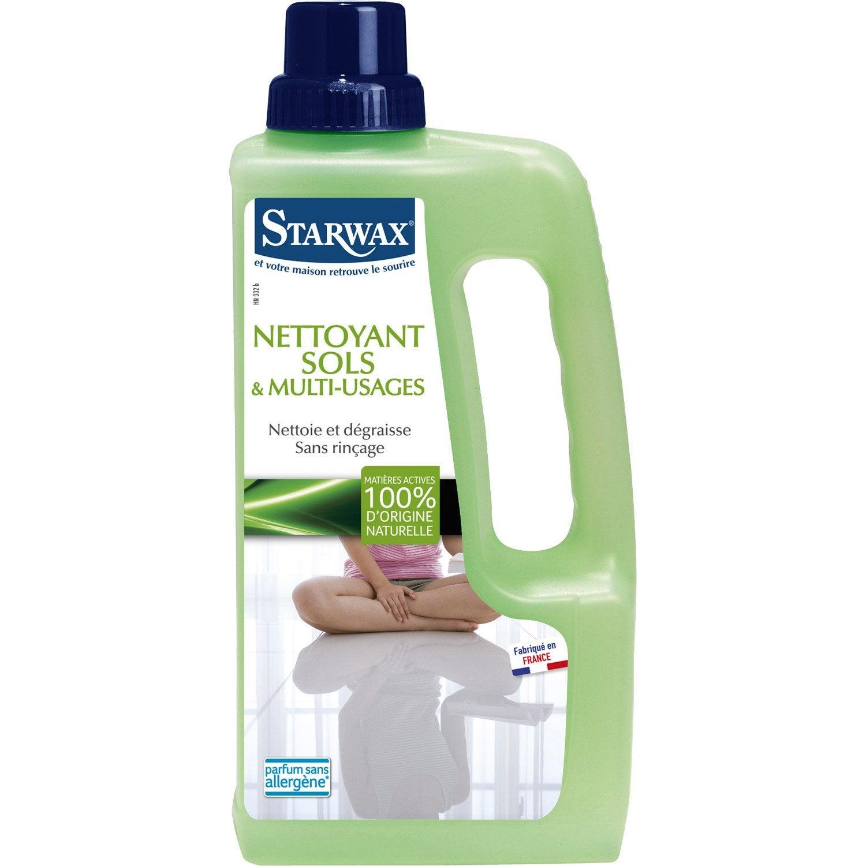 Nettoyant sols multi usages starwax 1 l leroy merlin for Produit nettoyant carrelage