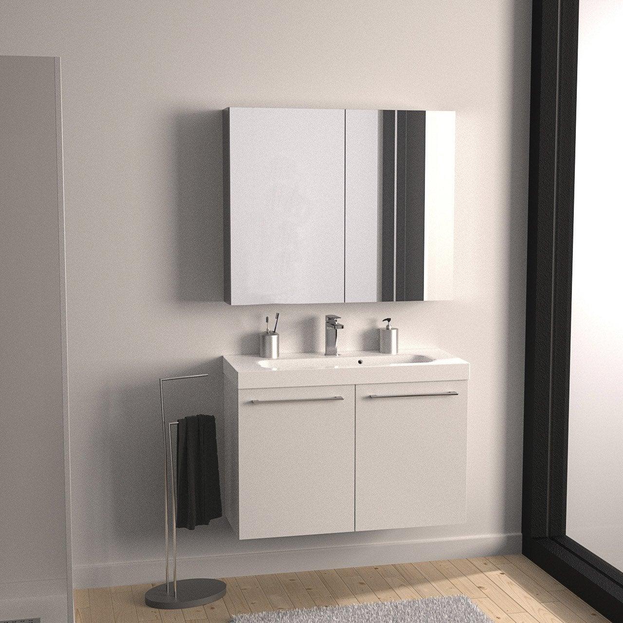 Meuble salle de bain galet blanc avec haute qualité photos ...