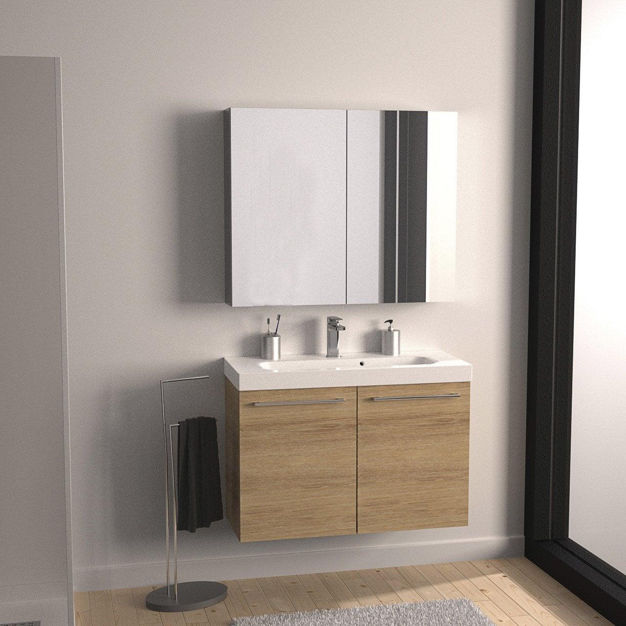 meuble sous vasque x x cm imitation. Black Bedroom Furniture Sets. Home Design Ideas