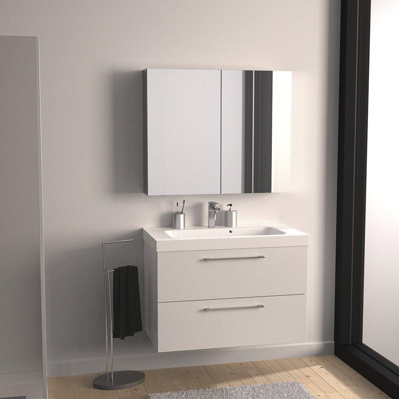 Meuble sous vasque x x cm blanc sensea remix leroy merlin - Iotti mobili bagno ...